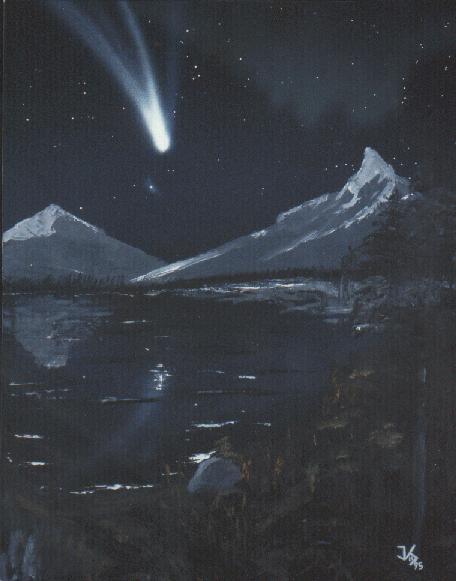 Comet Hale Bopp At T 5 Days By Jim Scotti